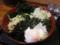 漁師そば[冷](530円)+無料トッピング全部+温玉(0円)