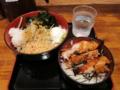 鶏めしセット[冷](580円)+無料トッピング全部+温玉(0円)