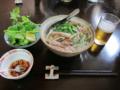 フォーセット[生春巻・揚春巻・サラダ、デザート付](950円)