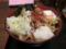 南蛮豚[冷](590円)+無料トッピング全部+温玉(0円)