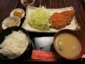 ロースとんかつ定食(800円)+ライス大盛(0円)