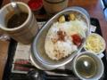 人形町ワインカレー(750円)+大盛(0円)+チーズ(サービス券-100円)