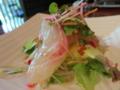 お造り 白身魚の揚げそばカルパッチョ風サラダ