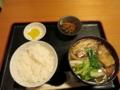 特撰ちゃんこ定食(500円)[カレー味]