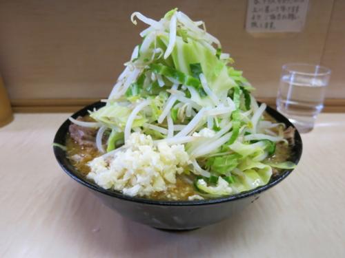 味噌ラーメン(750円)+ニンニク・自動ヤサイ