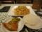 上海式イタメやきそば[お替り自由ご飯、副菜、つけもの付き](780円)