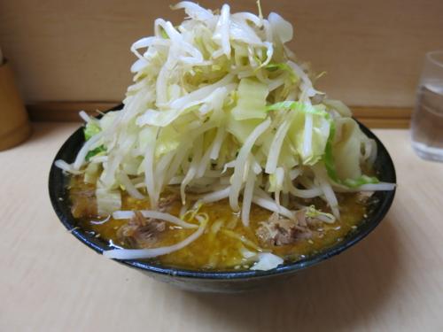 味噌ラーメン(750円)自動ヤサイ・ニンニクなし