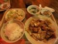 今週のランチB[豚肉とキャベツの甘味噌炒め](550円)