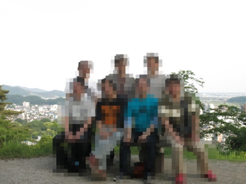 織姫公園で全員の記念写真