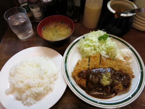 ポークカツレツ定食(1000円)