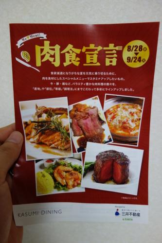 「肉食宣言」のパンフ