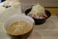 半チャーシューつけ麺大盛(850円)太麺・ヤサイ