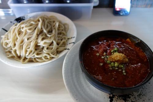 どて辛つけ麺(680円)+大盛り・2玉400g(0円)