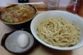 つけ麺(750円)ヒヤモリ・自動ヤサイ+生玉子(50円)