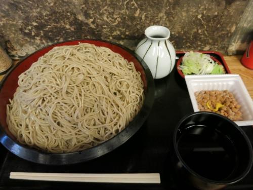 恵み蕎麦【特盛り700g】(800円)+納豆・モーニングサービス(0円)