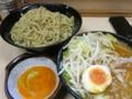 味噌つけ麺(750円)ヒヤモリ・自動ヤサイ+生玉子(50円)