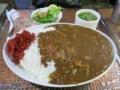 カレーライス[サラダ・スープ・コーヒーor紅茶付](750円)+大盛り(200円)