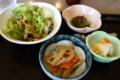 サラダ・小鉢・お新香・デザート