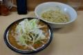 つけ麺(800円)+ブタ増し(100円)・ヒヤモり・自動ヤサイ。