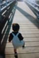 一歳の長男とゆらゆら橋