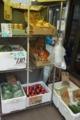 店頭の野菜販売