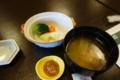温野菜と味噌汁