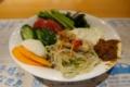 盛り付けた茨城野菜