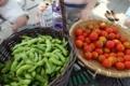 枝豆と自家製トマト