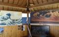 北斎の「神奈川沖浪裏」と伊八の「波に宝珠」