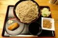 恵み蕎麦【大盛り500g】(650円)+縄文いなり寿司(100円)