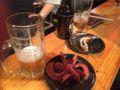 生ビールとたこさんウインナー
