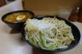 みそ付け麺(麺)ヒヤモリ・なんでかヤサイ