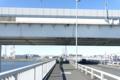 清砂大橋を渡り首都高中央環状線をくぐる
