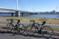 清砂大橋を渡り荒川西側川岸へ