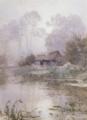 朝靄 水彩 明治34-36(1901-03)