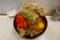 まいたけ天玉そば(500円)+大盛(50円)+セルフ紅生姜&七味