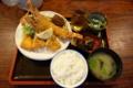 大エビフライとハモフライ定食(900円)