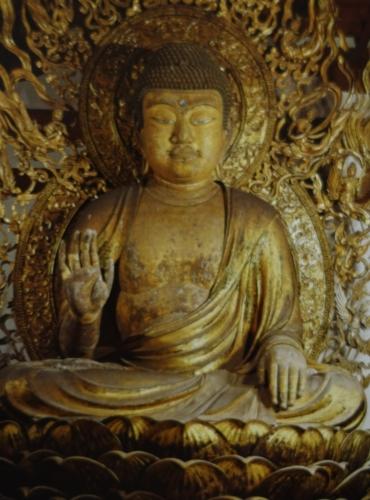 唐招提寺講堂 重文 弥勒如来坐像の写真