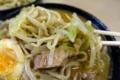 麺をスープに絡める