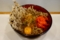 まいたけ天玉そば(500円)+セルフ紅生姜&七味