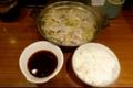 豚もやし定食[ポン酢](600円)