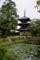 池越しに見た日本最古の三重塔