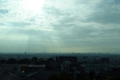 生駒山麓を走る近鉄特急から見下ろした大阪