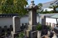 浅野長矩と大石親子の墓石