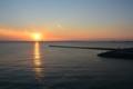 美浜大橋から見た夕陽