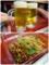 生ビールと肉ナムル