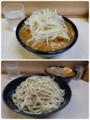 みそ付け麺(800円)ヒヤモリ自動ヤサイ