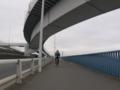 荒川河口橋を渡り夢の島へ