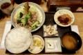 今日のランチ【ご飯大盛り・おかわり無料】(780円)。