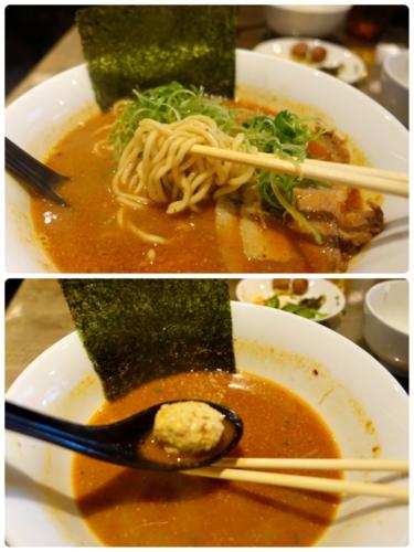 麺と肉団子